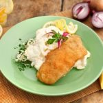 Rántott hal majonézes burgonyasalátával