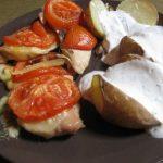 Rozmaringos csirke és kapros krumpli